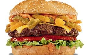 бургер, гамбургер, сыр, кунжут