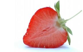 strawberry, white