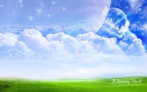 tratamiento, campo, las nubes
