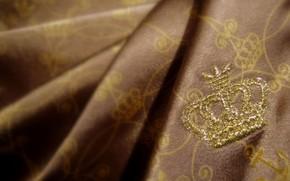 корона, золото, ткань