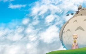 anime, chmury