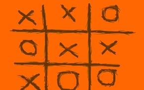 крестики нолики, оранжевый