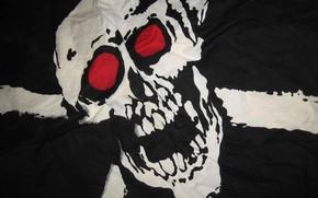 череп, черный, флаг