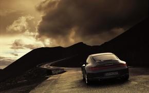 tempo, strada, nuvole