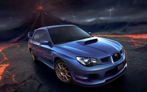auto, volcano, Lightning