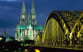 germany, Bridge, Cathedral
