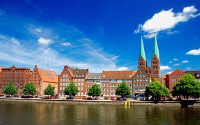 Lubeck, germany, river, home