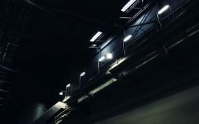 завод, склад, лестница, фонарь, темнота