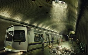 Metro, fright, fantasy