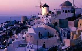 Grecia, santorini, mulino