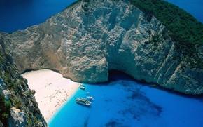 греция, остров, лагуна