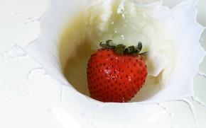 white, milk, strawberry