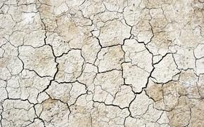 сухая земля, трещины, текстура