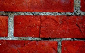 muro, rosso, mattone