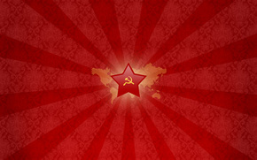USSR, red, star, sickle, hammer