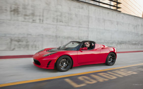 Tesla, Roadster, Car, machinery, cars