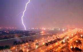 lightning, Thunderstorm, Florida, Fort Lauderdale