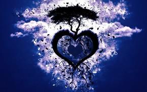 dragoste, inim, vector