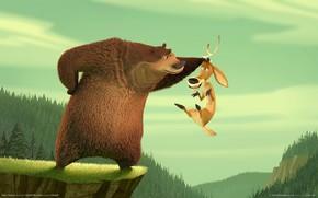 сезон охоты, медведь, олень