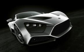 sports car, silver