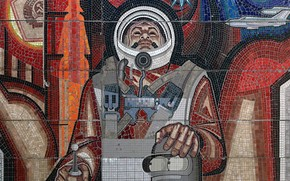 piegatrice, astronauta, Mosaico, ussr