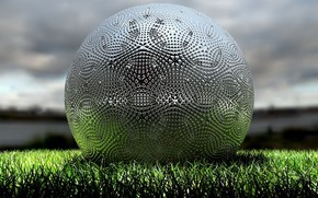 ball, field, grass