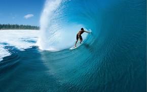 surfer, onda, acqua