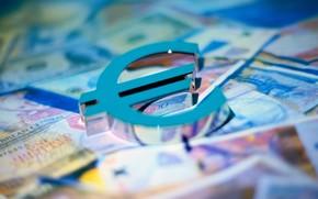 евро, символ, деньги