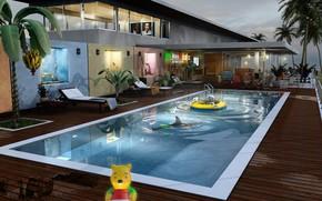 басейн, игрушки