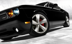 Auto, schwarz, Rad