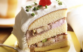 торт, вишенка, еда