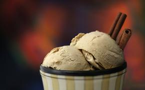 ice cream, cinnamon