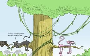 розовая пантера, карикатура, юмор