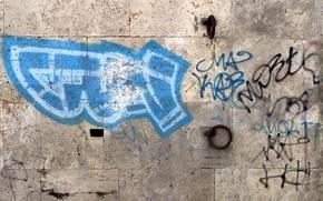 граффити, стена, город