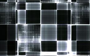 squares, black, line