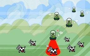 Ufo, Mucche, umorismo