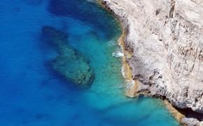 mar, rocha, ondas, paisagem