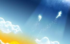 Hada, las nubes, luz, vector