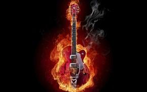 огонь, дым, гитара