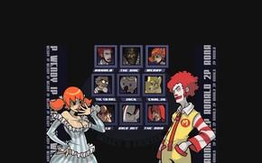 клоун, девушка, выбор