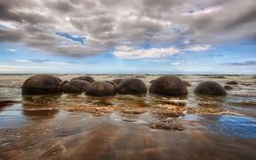 камни, море, природа, небо.