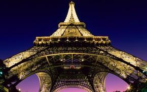 города, париж, башня