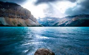 natureza, mar, Montanhas