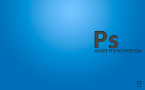 adobe, blu, Photoshop, programma