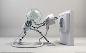 presa di corrente, lampadina