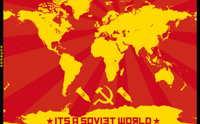communism, USSR, Map of the World