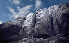 Montagne, ghiacciaio