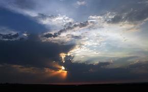 summer, cloud