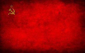 USSR, flag, grunge