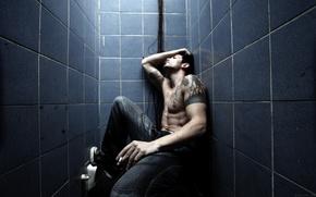 мужик, туалет